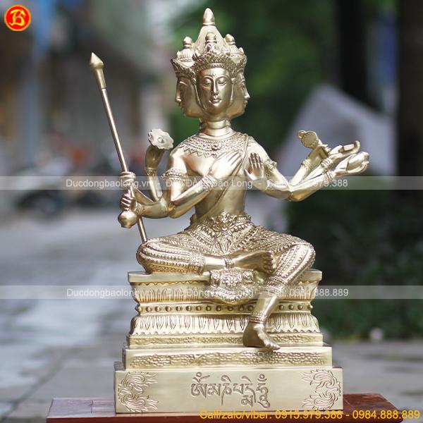 Tượng Phật Tứ Diện – Phạm Thiên bằng đồng Catut 69cm