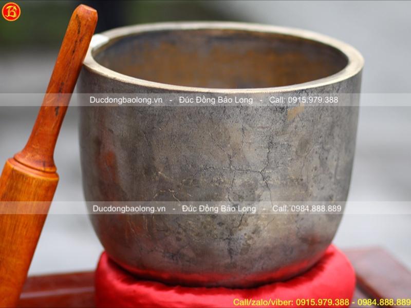 Chuông Bát bằng đồng đỏ Đk 30cm màu sắc giả cổ