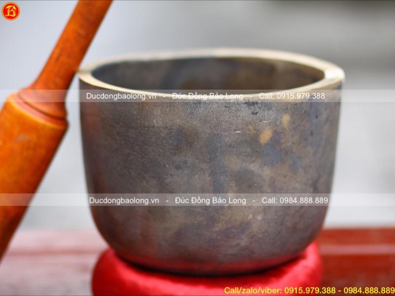 Chuông tụng- Chuông Gia trì bằng đồng đỏ Đk 19cm