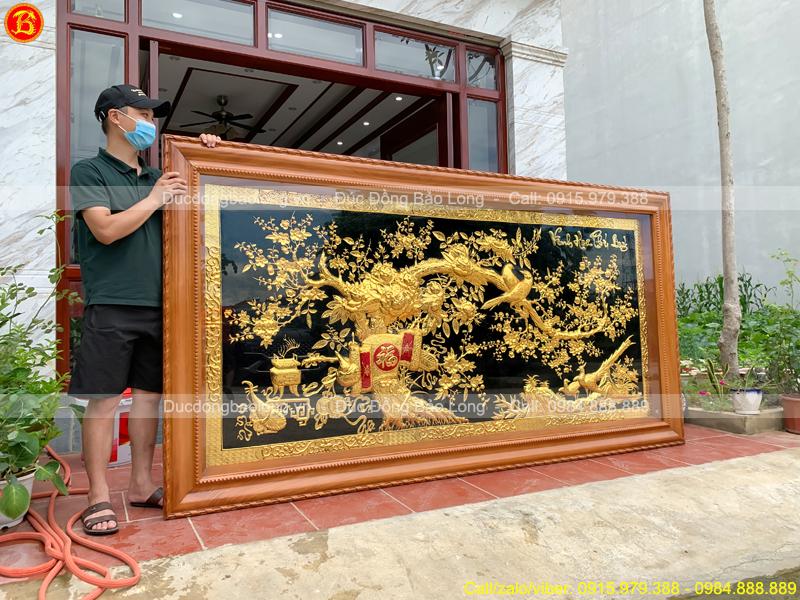 tranh Vinh Hoa Phú Quý Mạ vàng 2m86 x 1m7