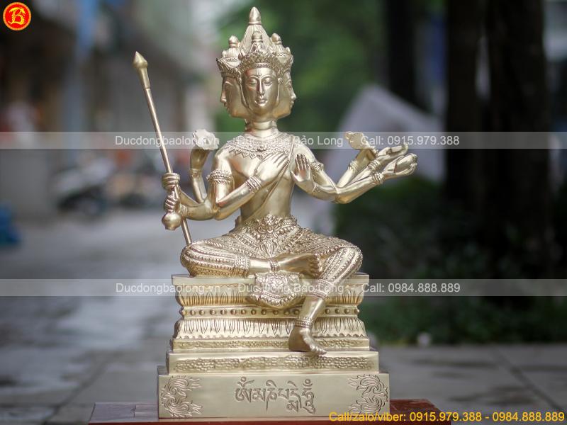 Phật Tứ Diện - Phạm Thiên bằng đồng catut