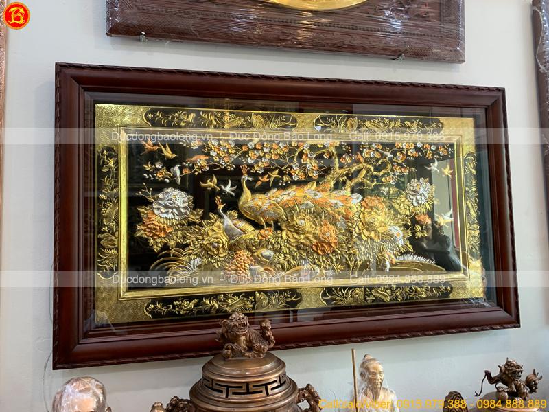 tranh Công mai 1m55 x 88cm