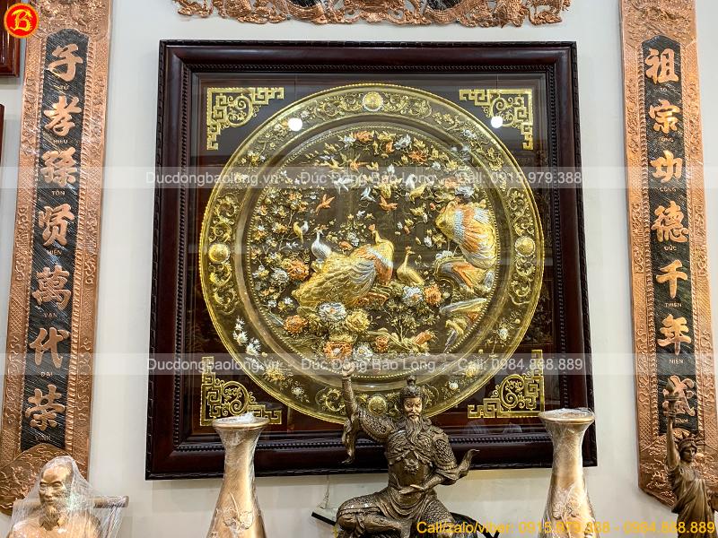 tranh Phu Thê Viên Mãn khổ vuông 1m33