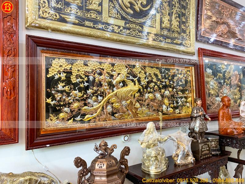 tranh Phượng Hoàng Du Xuân 2m17 x 88cm