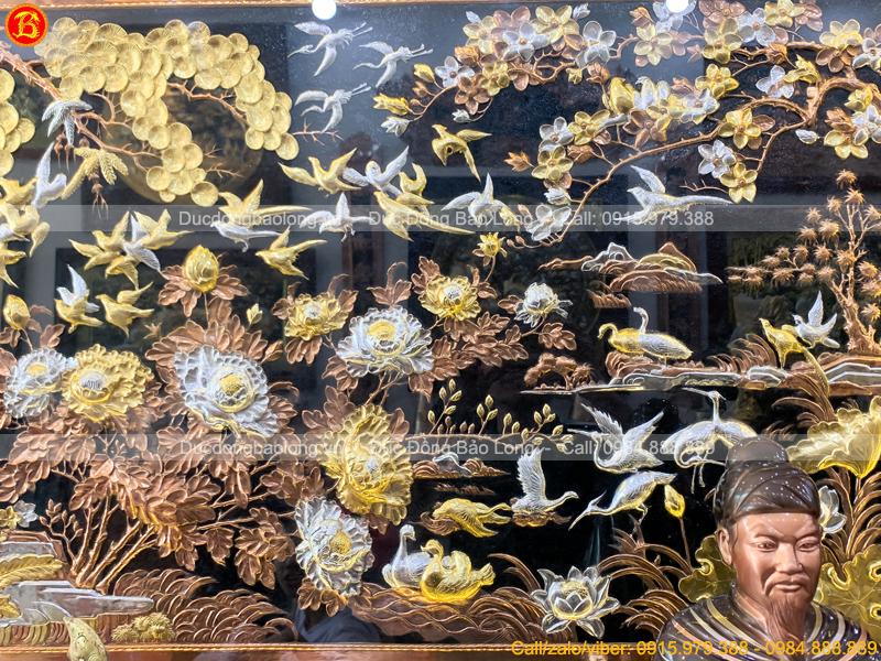 tranh Phượng Hoàng Du Xuân