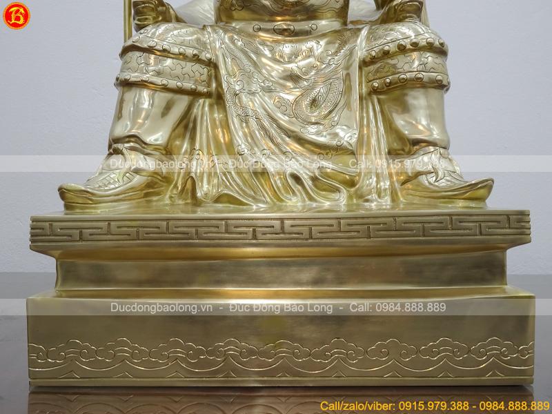 tượng quan công ngồi đọc sách cao 65cm