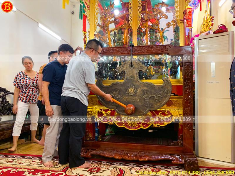 đúc Khánh Đồng nặng 125kg treo đền thờ