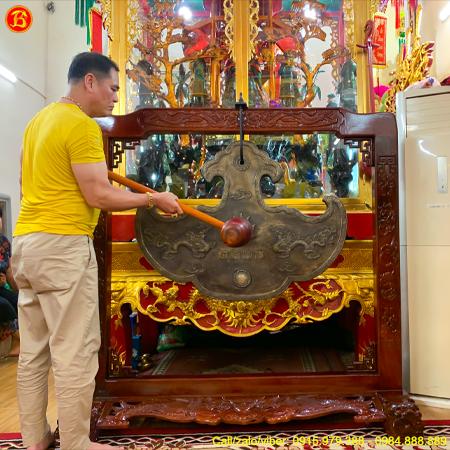 Đúc Khánh Đồng Nặng 125kg Treo Đền Thờ Ở Hà Nội