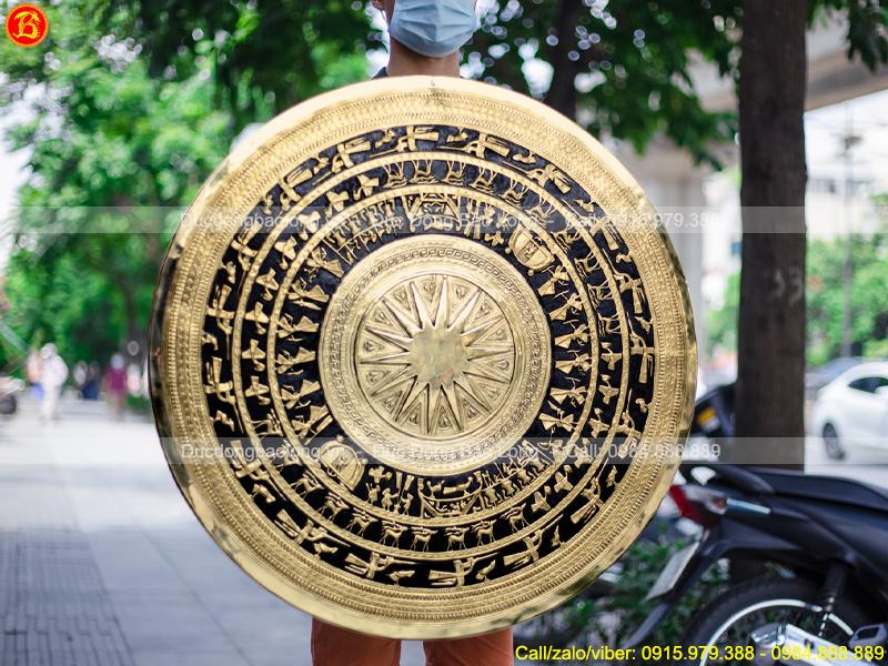 Mặt Trống Đồng Đk 80cm gò thủ công