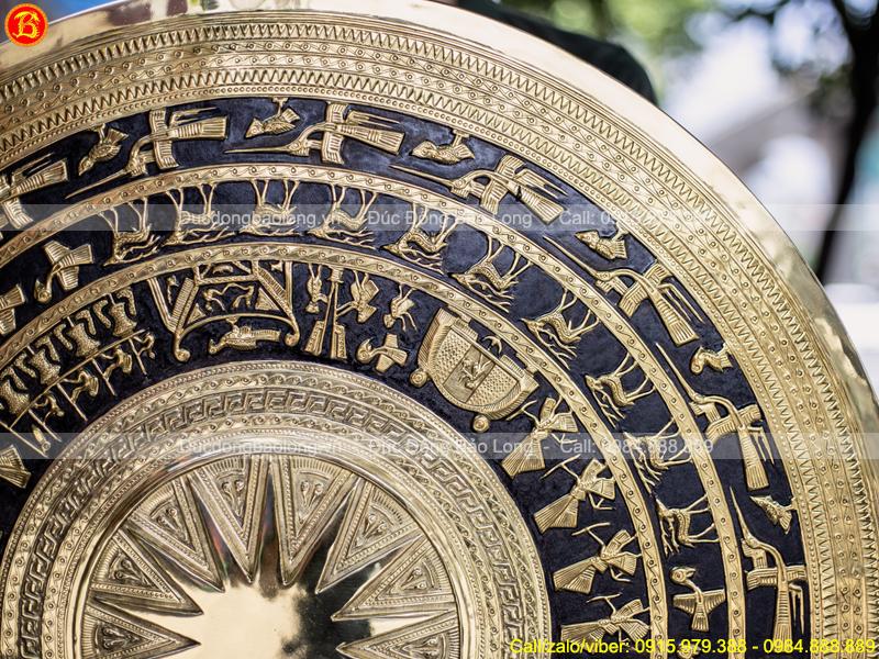 Mặt Trống Đồng Đk 80cm Gò Thủ Công Bằng Đồng Thau