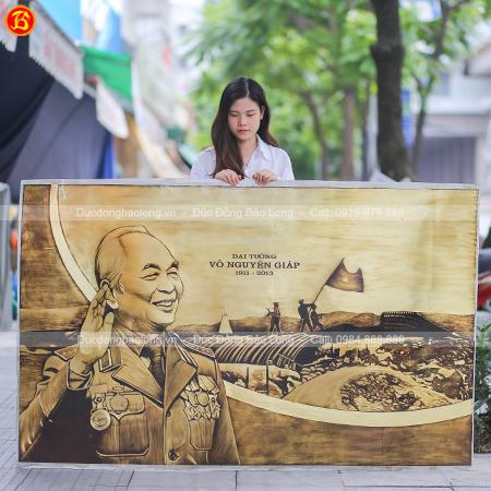 Tranh Khắc Đồng Đại Tướng Võ Nguyên Giáp 1m81 x 1m14