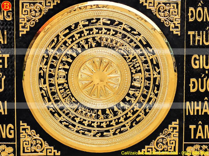 Tranh Mặt Trống Đồng Hàng Đặt 1m91 x 1m31 Khung Đồng