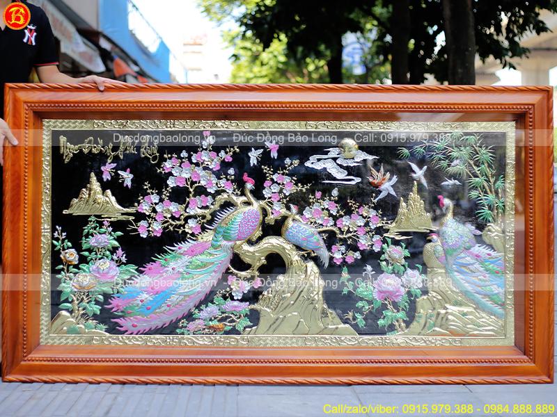 Tranh Ngọc Đường Phú Quý Bằng Đồng 1m97 x 1m07