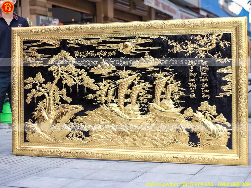 Tranh Thuận Buồm Xuôi Gió 2m31 x 1m27 Khung Đồng