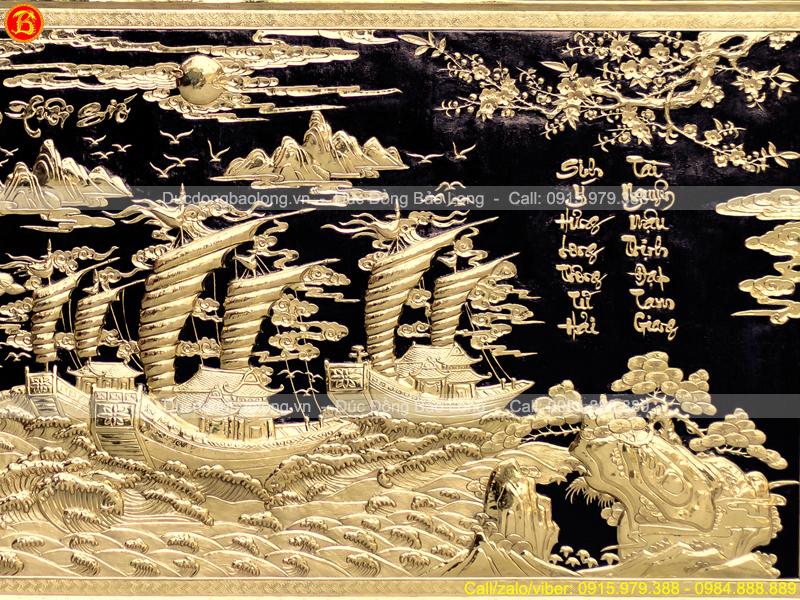 Tranh Thuận Buồm Xuôi Gió 2m62 x 1m27 Khung Liền Đồng