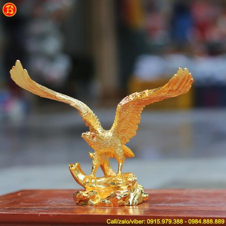 Tượng Chim Đại Bàng Tung Cánh Cao 27cm Mạ Vàng 24k