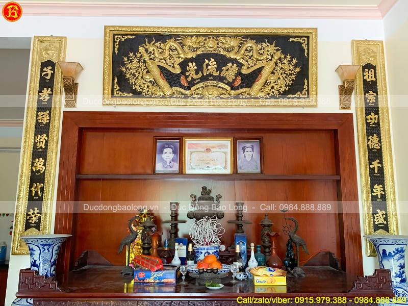 Bộ Hoành Phi Câu Đối 1m97 Bằng Đồng Tại Thái Nguyên