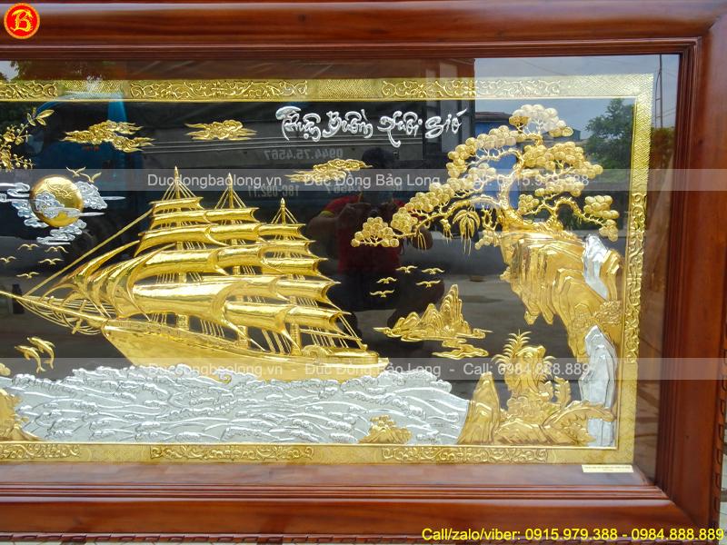tranh Thuận Buồm Xuôi Gió Mạ vàng Dát bạc