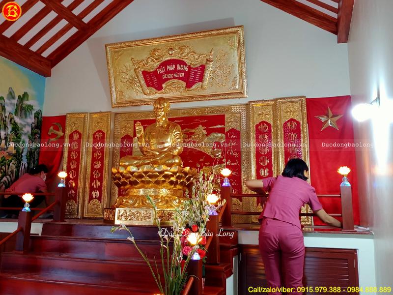 hoàn thiện phòng thờ Bác Hồ