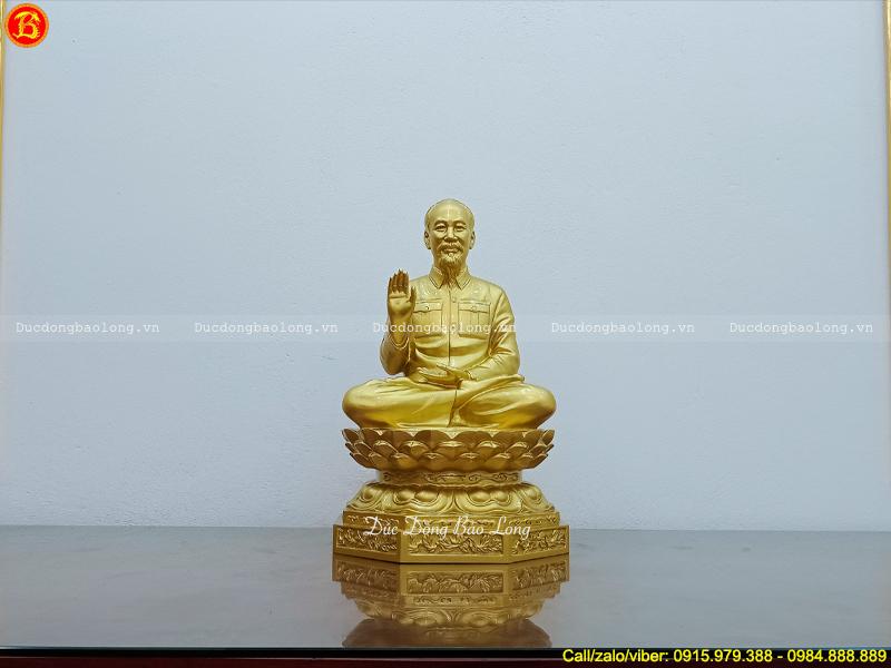 tượng Bác Hồ ngồi tòa sen cao 61cm