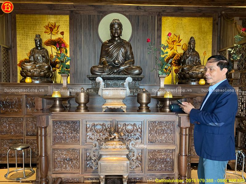 bàn giao tượng Phật cho công ty Trần Phú